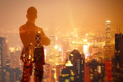 Trader vor Skyline